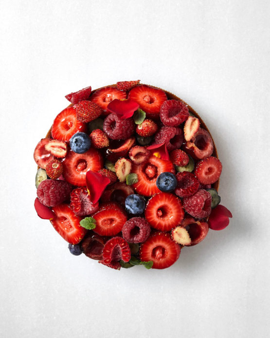 Tartaleta de frutos rojos.