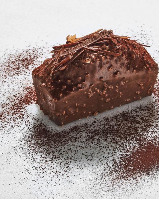 Bizcocho de chocolate y vainilla.
