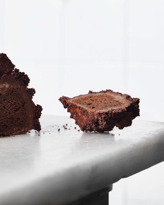 Pastel de chocolate gourmet.